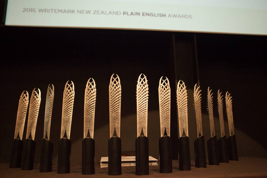 Image: The fabulous Awards trophies created by sculptor Campbell Maud